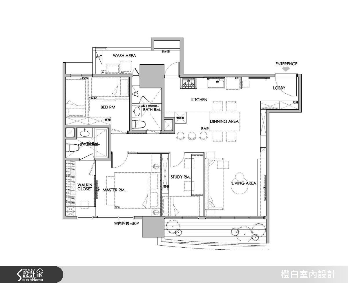 30坪新成屋(5年以下)_簡約風案例圖片_橙白室內裝修設計工程有限公司_橙白_36之30