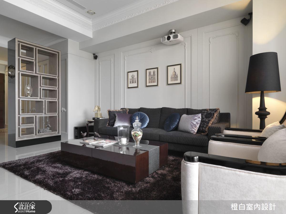 35坪新成屋(5年以下)_混搭風客廳案例圖片_橙白室內裝修設計工程有限公司_橙白_37之5