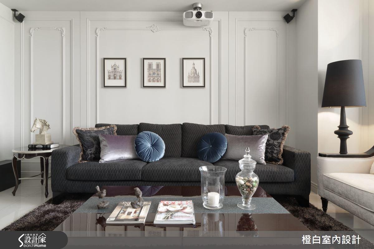 35坪新成屋(5年以下)_混搭風客廳案例圖片_橙白室內裝修設計工程有限公司_橙白_37之8