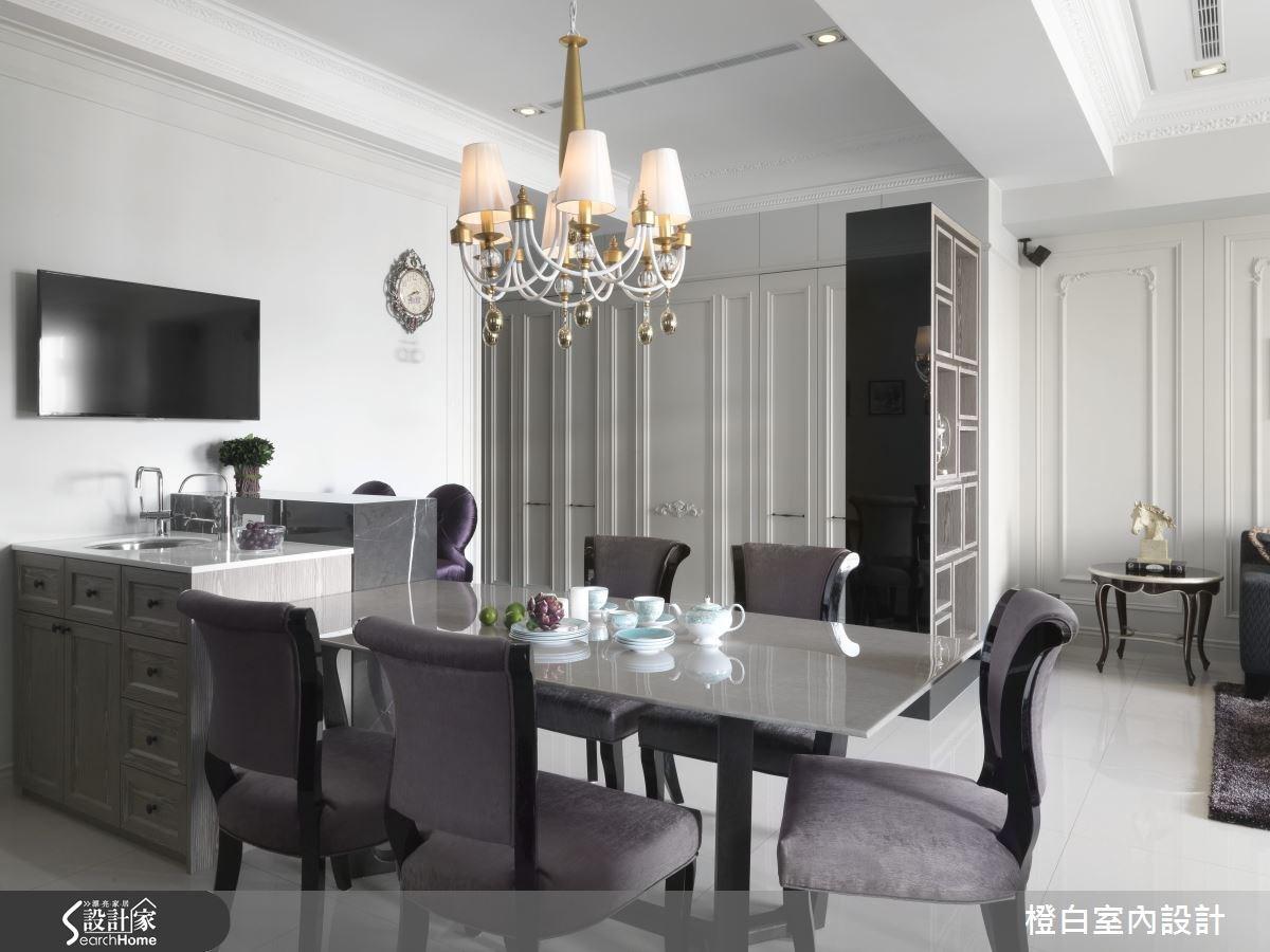 35坪新成屋(5年以下)_混搭風餐廳案例圖片_橙白室內裝修設計工程有限公司_橙白_37之13