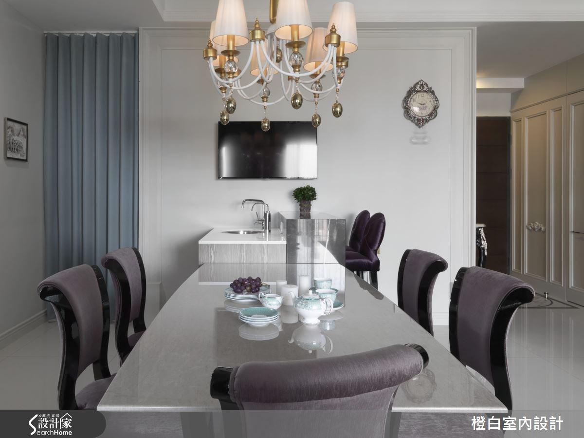 35坪新成屋(5年以下)_混搭風餐廳案例圖片_橙白室內裝修設計工程有限公司_橙白_37之14