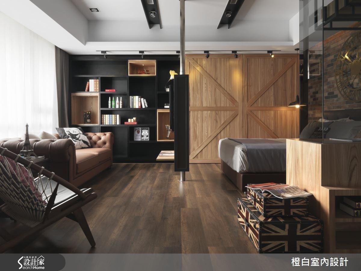 14坪新成屋(5年以下)_混搭風客廳案例圖片_橙白室內裝修設計工程有限公司_橙白_38之1