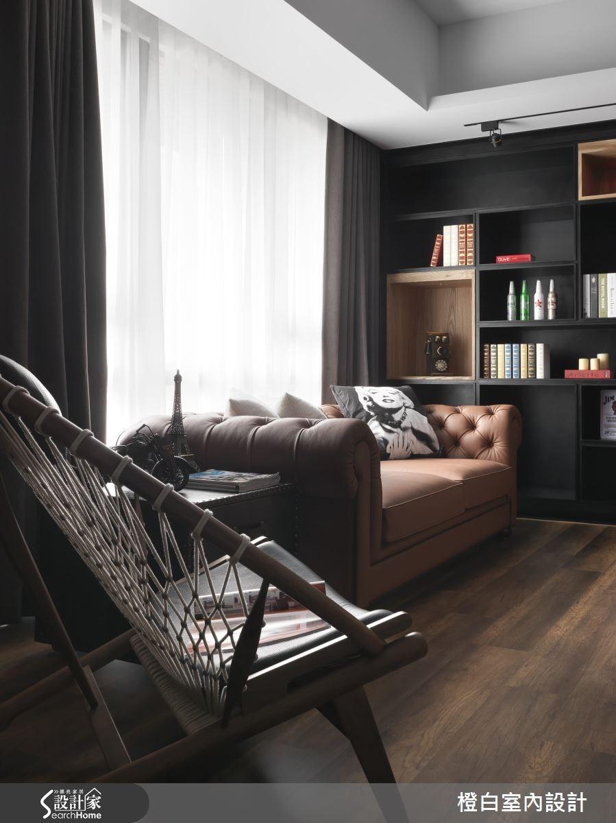 14坪新成屋(5年以下)_混搭風客廳案例圖片_橙白室內裝修設計工程有限公司_橙白_38之3