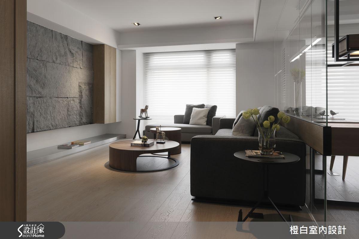 50坪新成屋(5年以下)_混搭風客廳案例圖片_橙白室內裝修設計工程有限公司_橙白_42之5