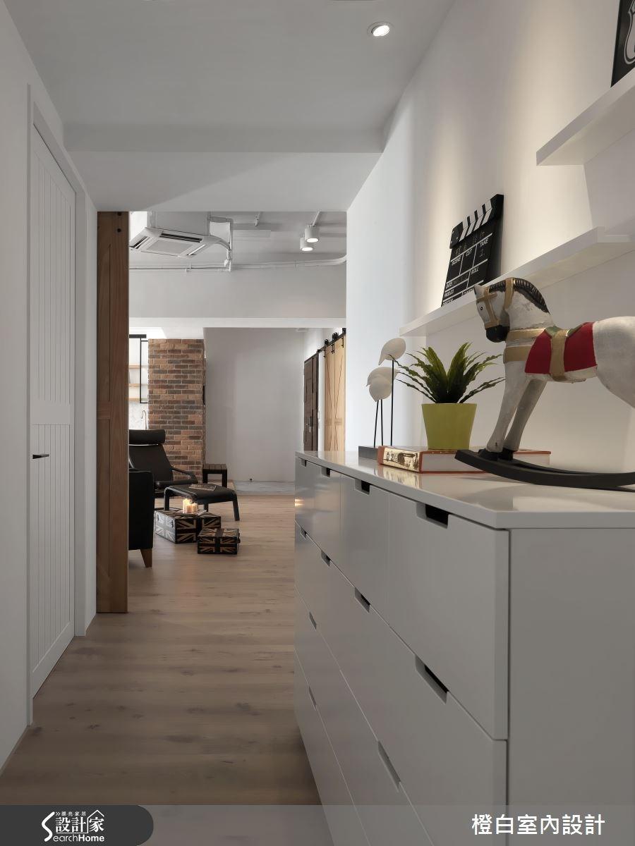 52坪新成屋(5年以下)_工業風走廊案例圖片_橙白室內裝修設計工程有限公司_橙白_44之2