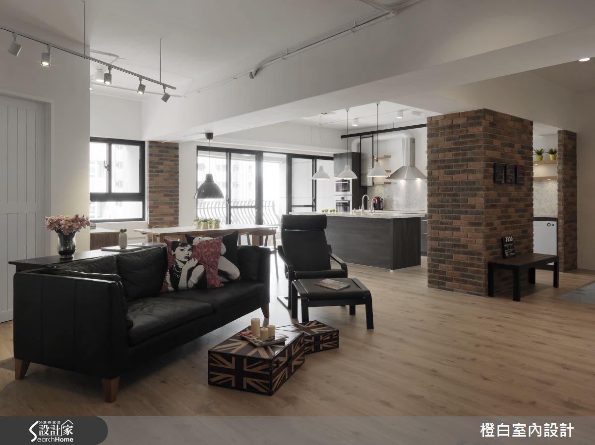 52坪新成屋(5年以下)_工業風客廳案例圖片_橙白室內裝修設計工程有限公司_橙白_44之3