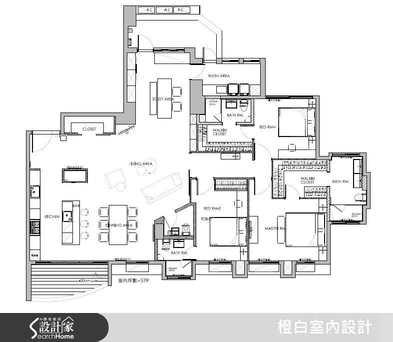 52坪新成屋(5年以下)_工業風案例圖片_橙白室內裝修設計工程有限公司_橙白_44之33