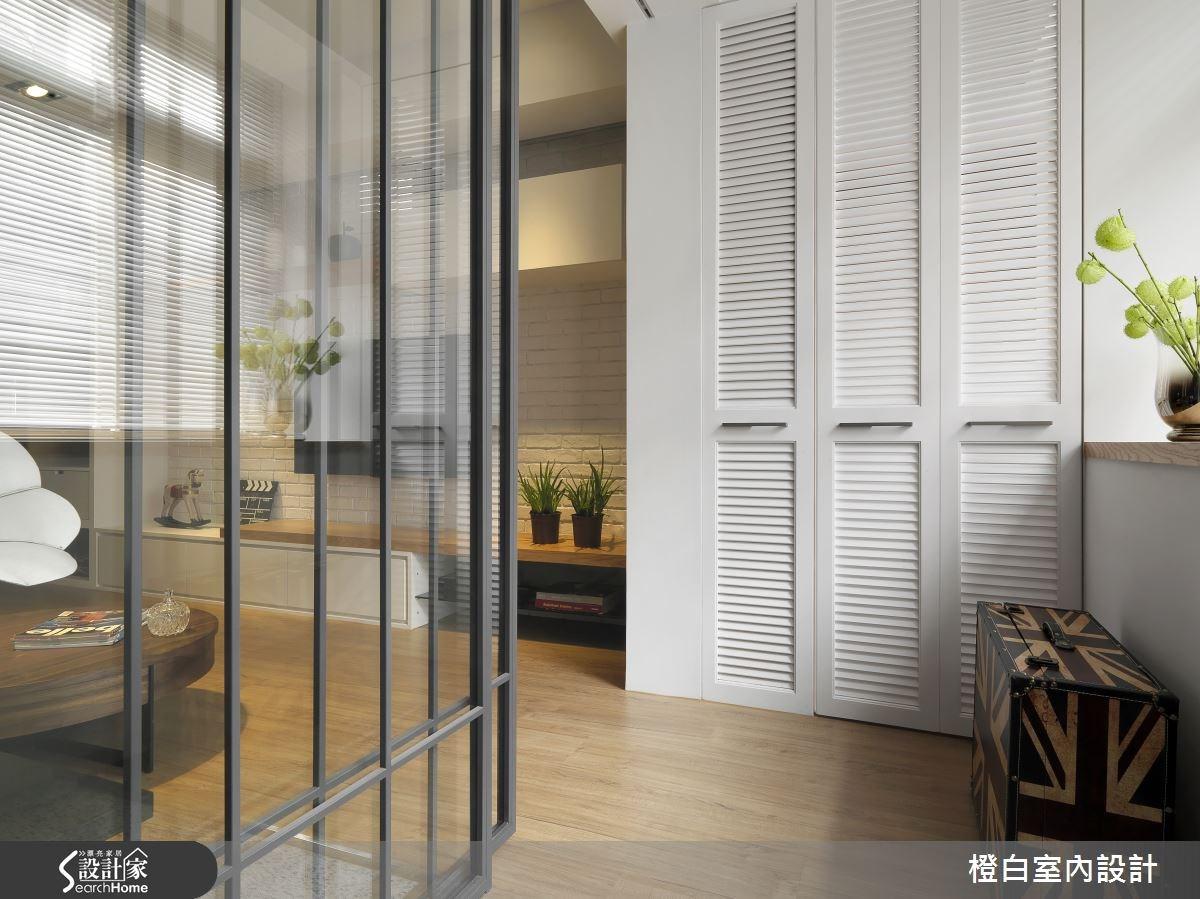 34坪老屋(16~30年)_混搭風玄關案例圖片_橙白室內裝修設計工程有限公司_橙白_45之2