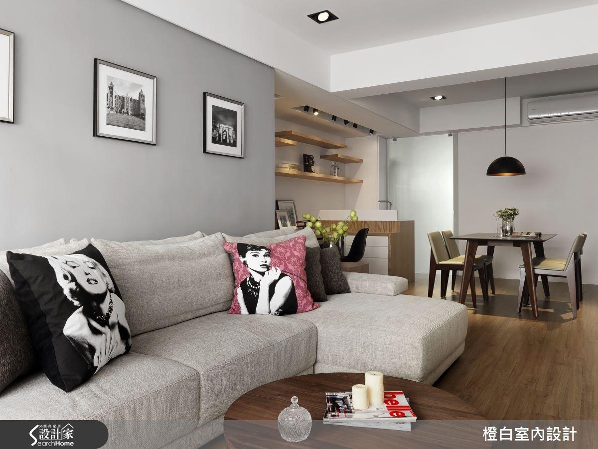 34坪老屋(16~30年)_混搭風客廳案例圖片_橙白室內裝修設計工程有限公司_橙白_45之4