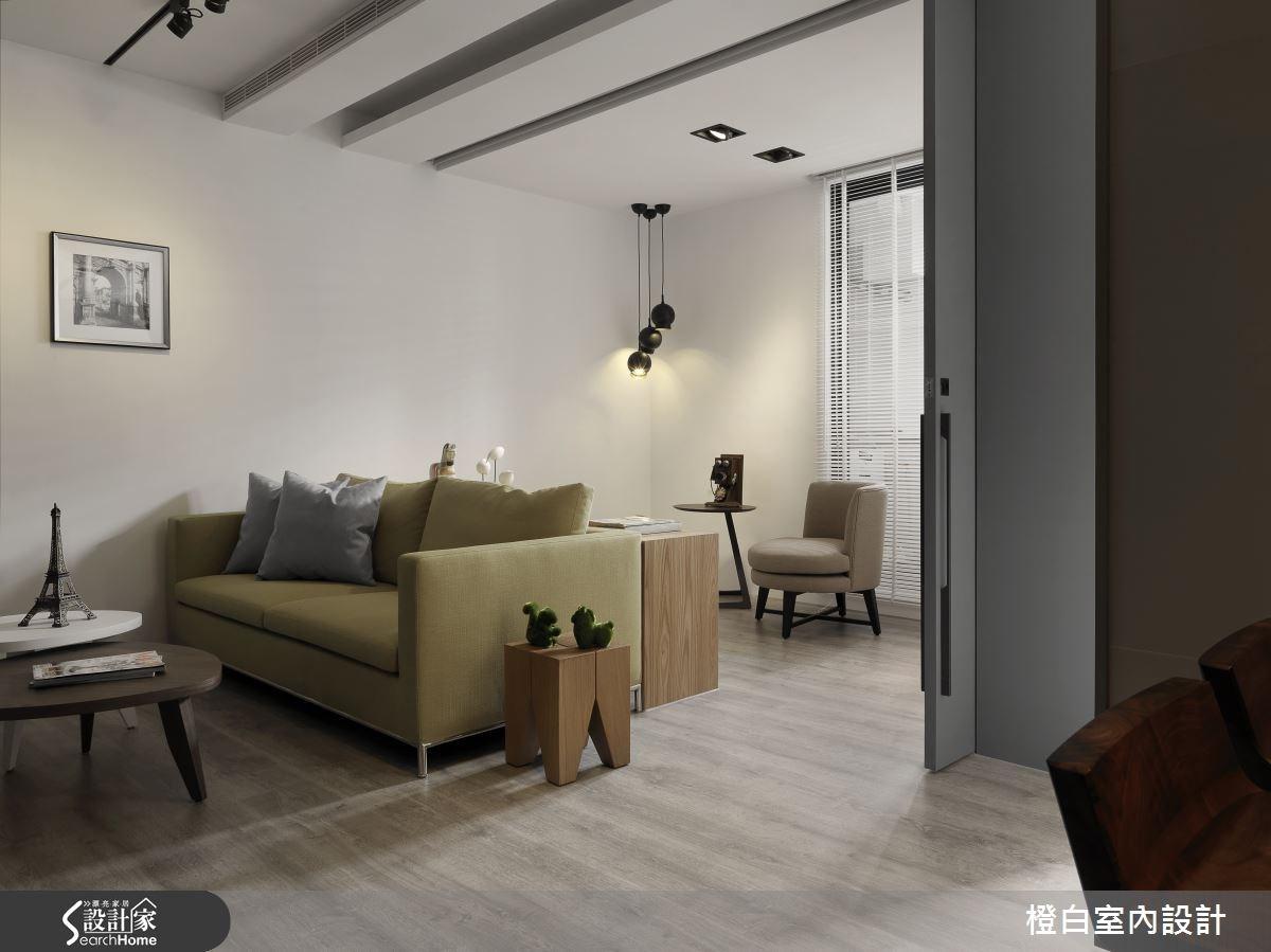 13坪老屋(16~30年)_混搭風客廳案例圖片_橙白室內裝修設計工程有限公司_橙白_46之2