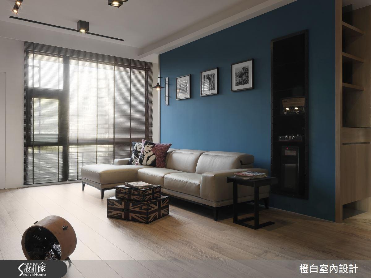 36坪新成屋(5年以下)_工業風客廳案例圖片_橙白室內裝修設計工程有限公司_橙白_48之1