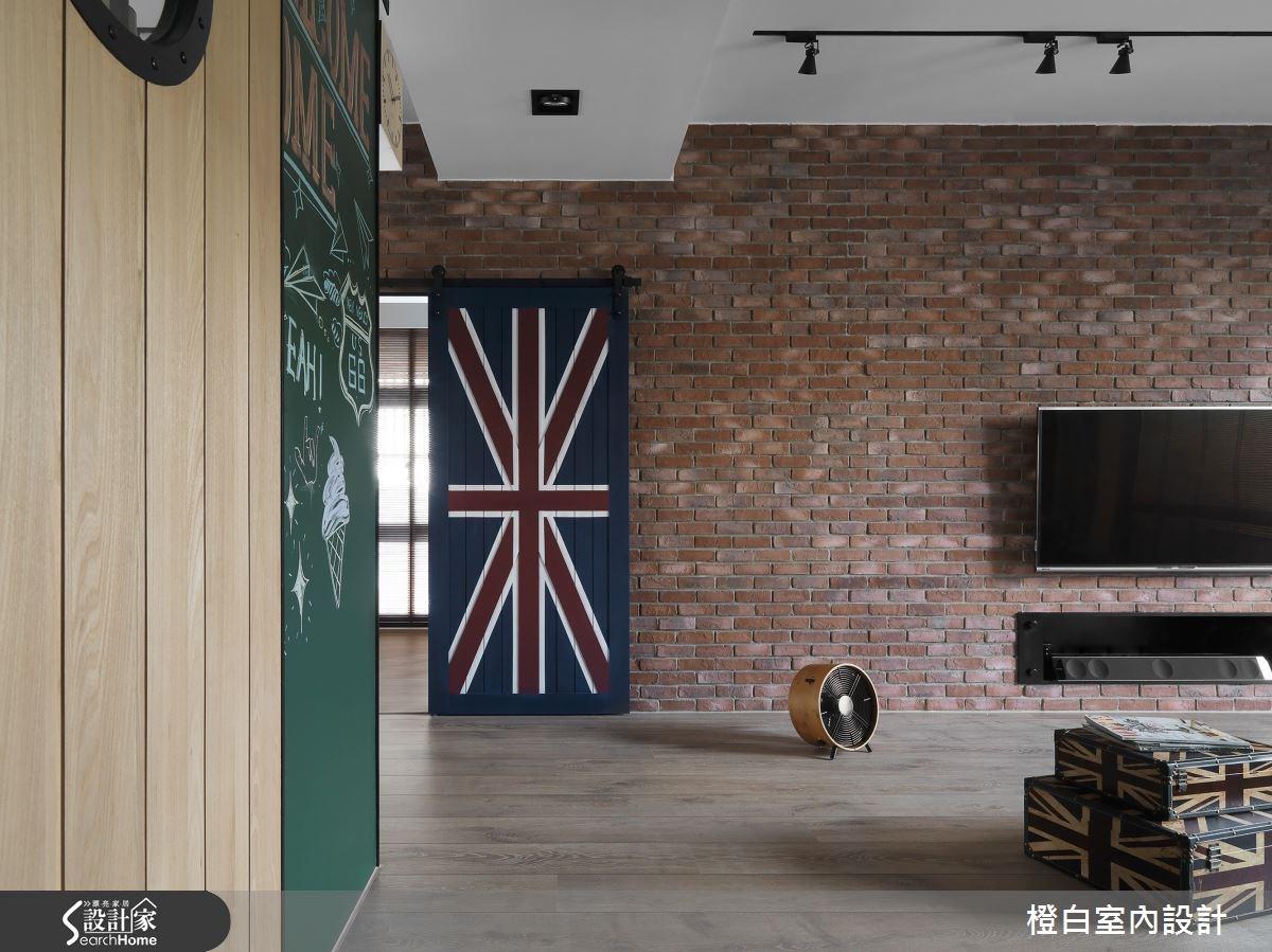 36坪新成屋(5年以下)_工業風客廳案例圖片_橙白室內裝修設計工程有限公司_橙白_48之4
