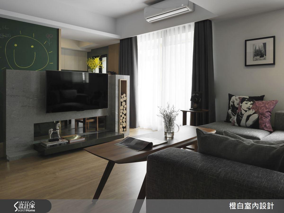 34坪老屋(16~30年)_現代風客廳案例圖片_橙白室內裝修設計工程有限公司_橙白_49之3