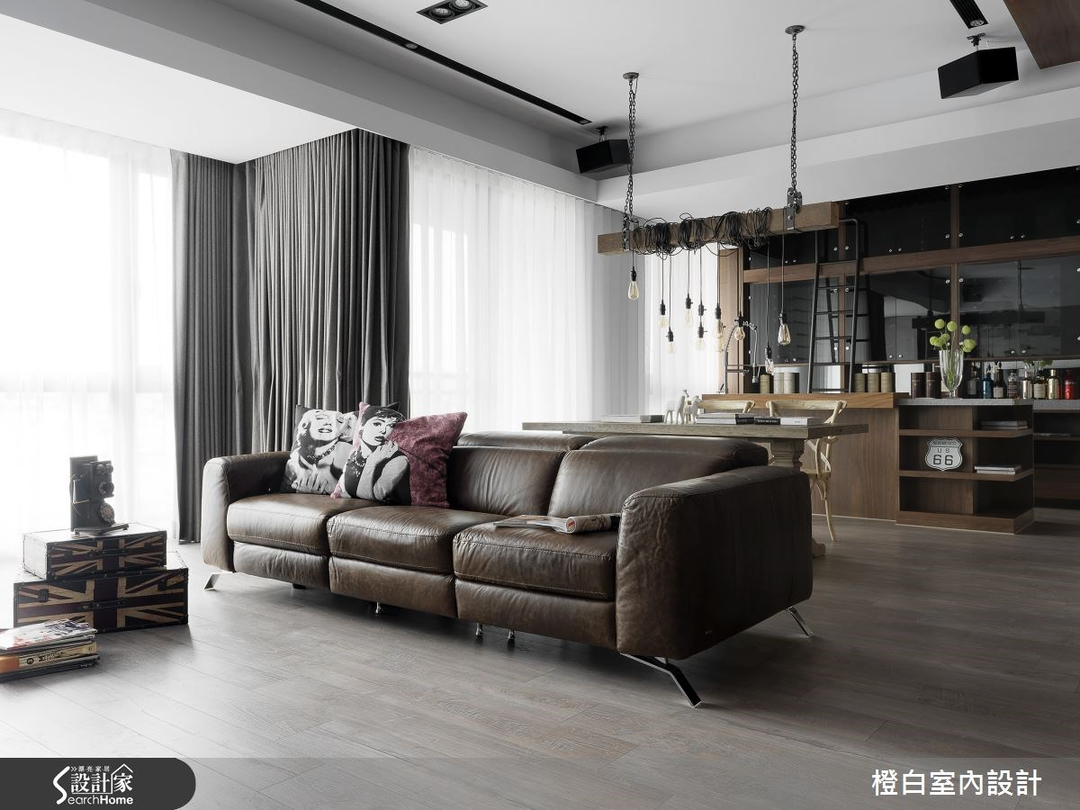 45坪新成屋(5年以下)_現代風客廳案例圖片_橙白室內裝修設計工程有限公司_橙白_50之1