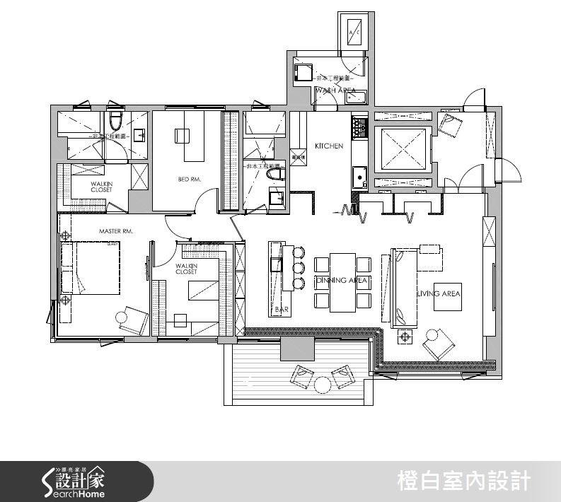 45坪新成屋(5年以下)_現代風案例圖片_橙白室內裝修設計工程有限公司_橙白_50之21