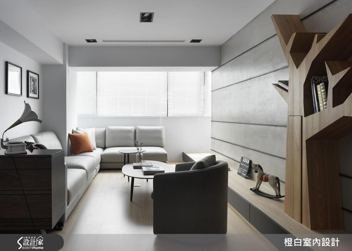 28坪中古屋(5~15年)_簡約風客廳案例圖片_橙白室內裝修設計工程有限公司_橙白_54之2