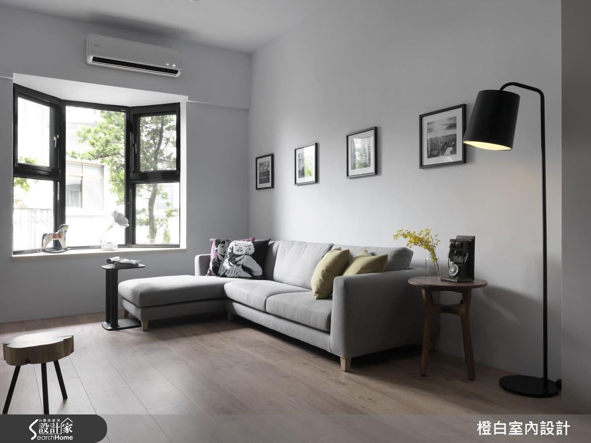 76坪老屋(16~30年)_混搭風客廳案例圖片_橙白室內裝修設計工程有限公司_橙白_55之2