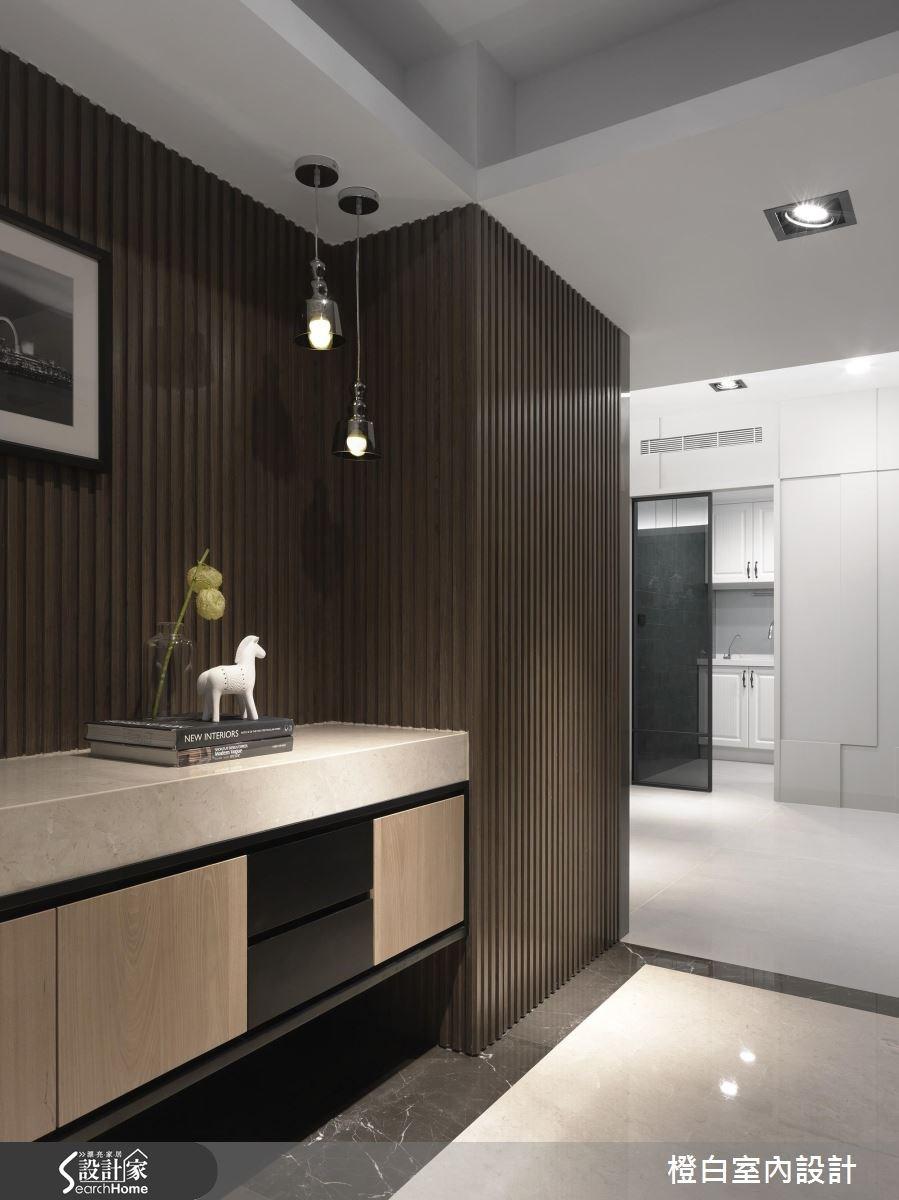 35坪老屋(16~30年)_現代風玄關案例圖片_橙白室內裝修設計工程有限公司_橙白_56之2
