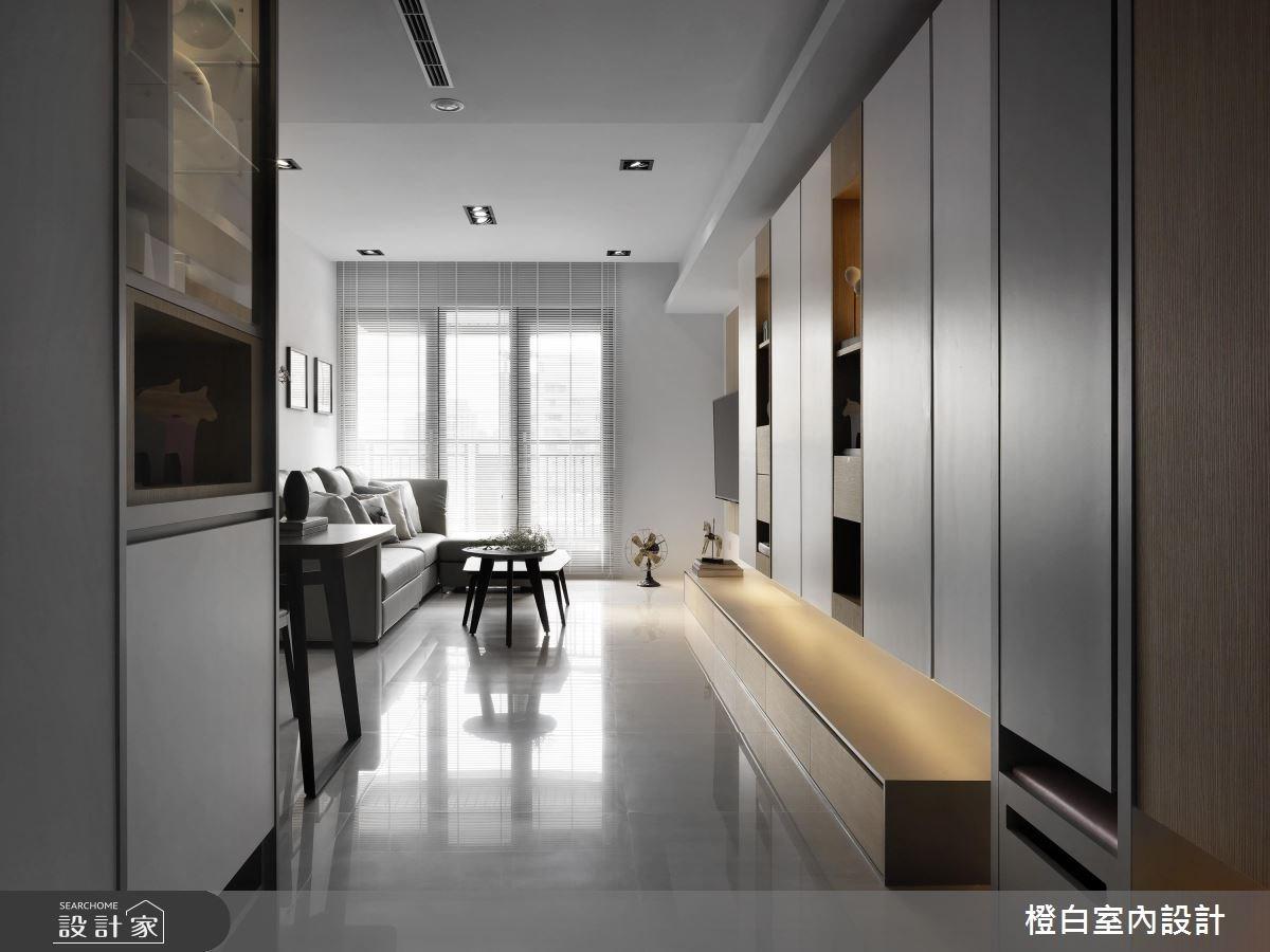 27坪新成屋(5年以下)_北歐風玄關案例圖片_橙白室內裝修設計工程有限公司_橙白_57之1