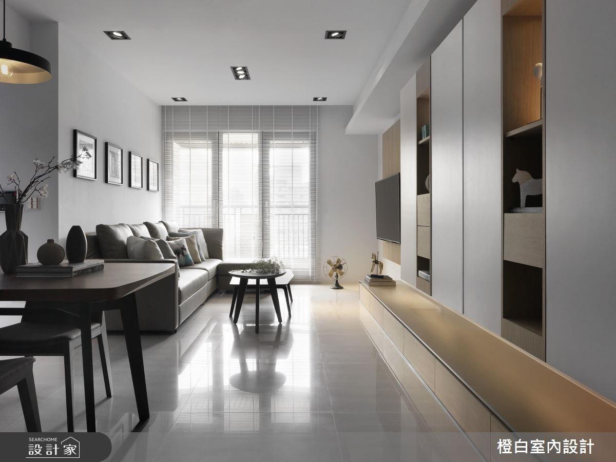 27坪新成屋(5年以下)_北歐風客廳案例圖片_橙白室內裝修設計工程有限公司_橙白_57之4