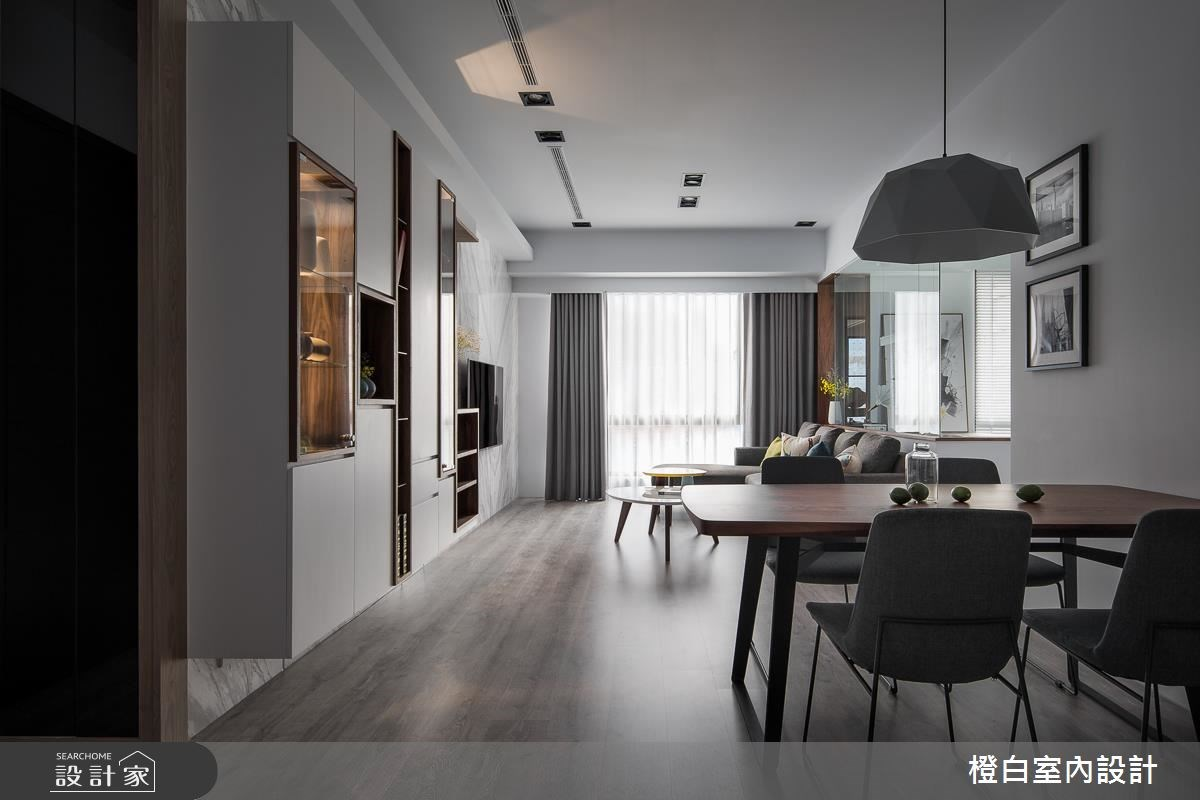 28坪新成屋(5年以下)_現代風餐廳案例圖片_橙白室內裝修設計工程有限公司_橙白_59之1