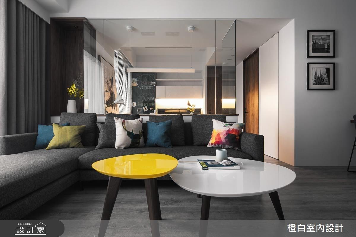 28坪新成屋(5年以下)_現代風客廳案例圖片_橙白室內裝修設計工程有限公司_橙白_59之4