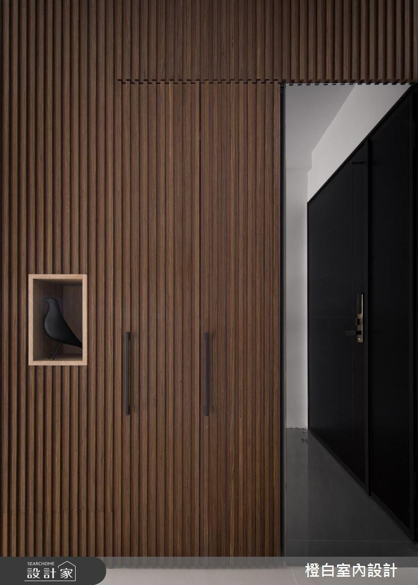 50坪新成屋(5年以下)_現代風玄關案例圖片_橙白室內裝修設計工程有限公司_橙白_61之3