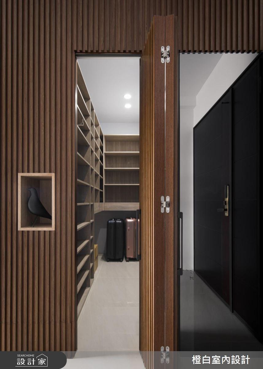 50坪新成屋(5年以下)_現代風玄關案例圖片_橙白室內裝修設計工程有限公司_橙白_61之4