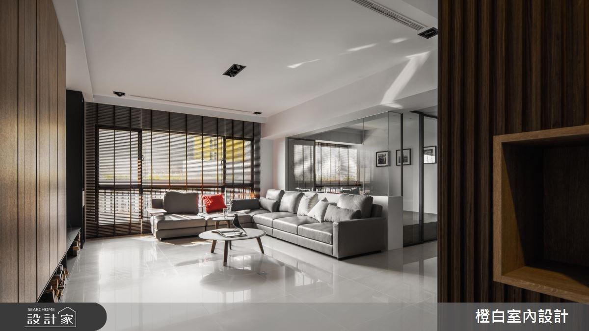 50坪新成屋(5年以下)_現代風客廳案例圖片_橙白室內裝修設計工程有限公司_橙白_61之5