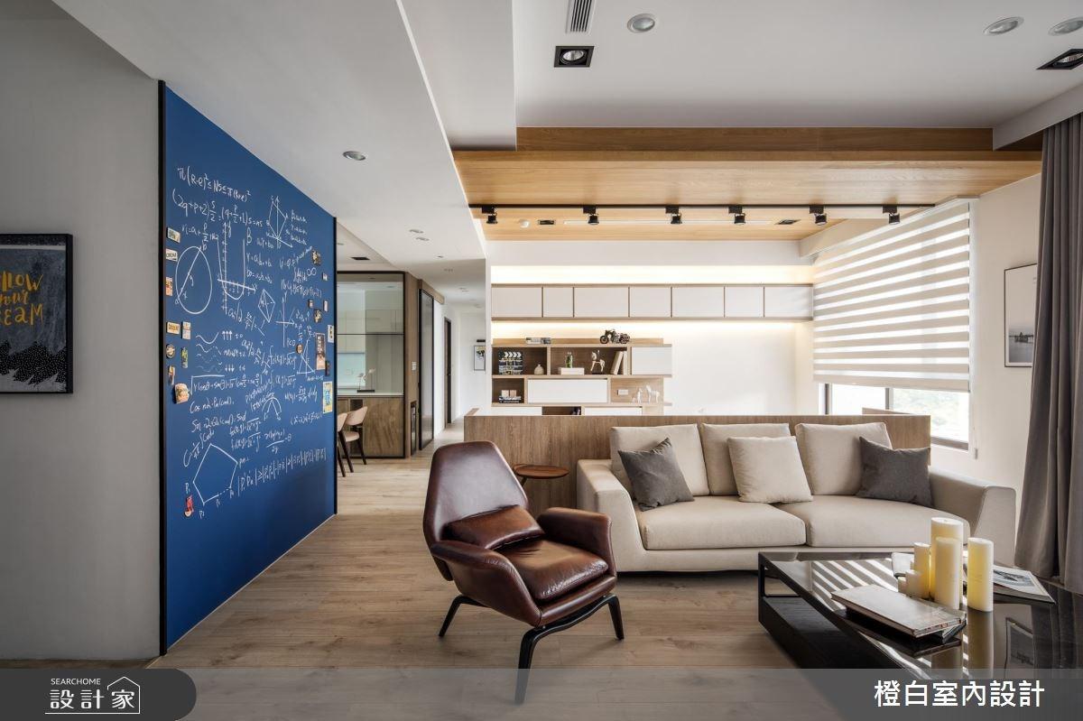 45坪新成屋(5年以下)_混搭風客廳案例圖片_橙白室內裝修設計工程有限公司_橙白_62之2
