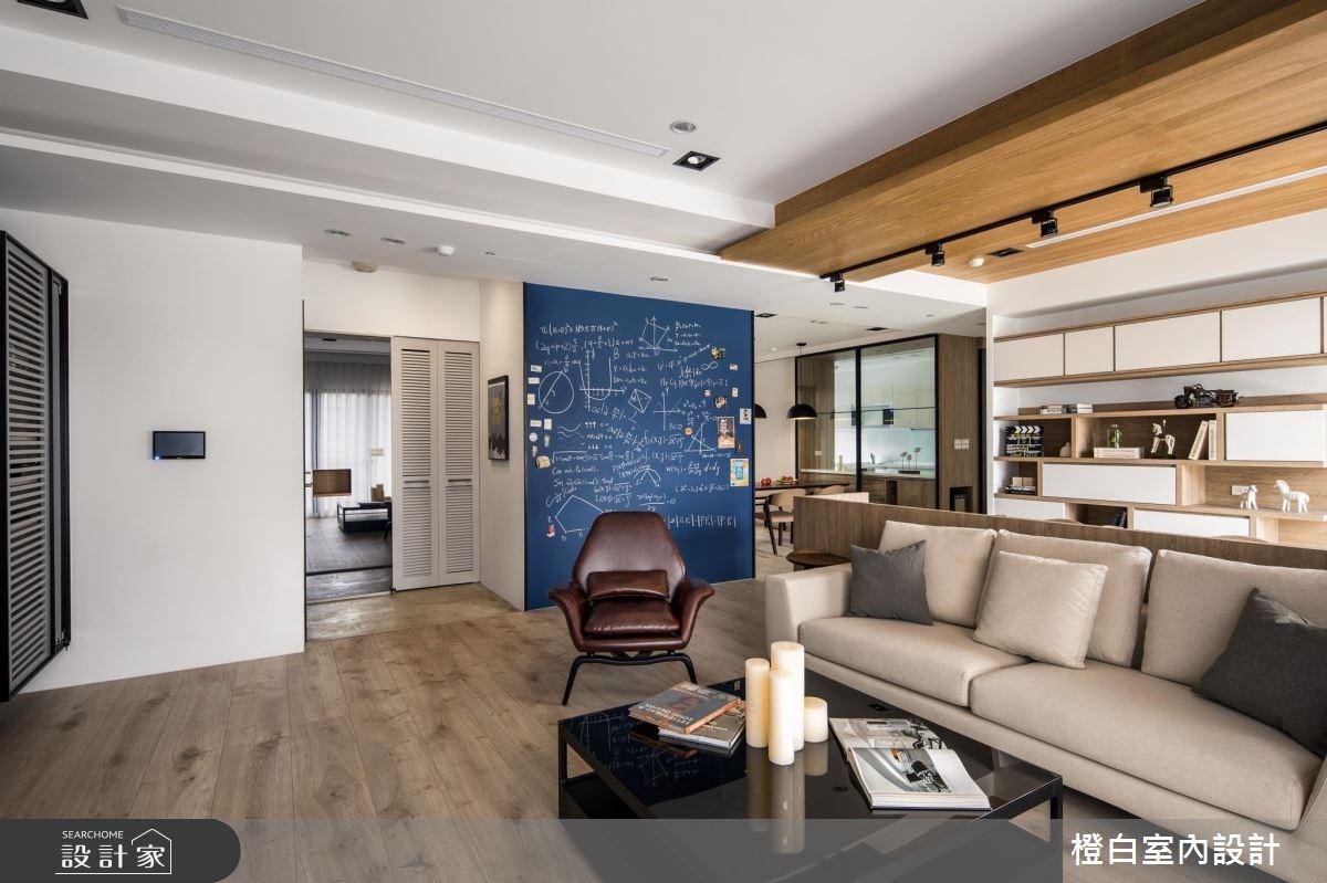45坪新成屋(5年以下)_混搭風客廳案例圖片_橙白室內裝修設計工程有限公司_橙白_62之4
