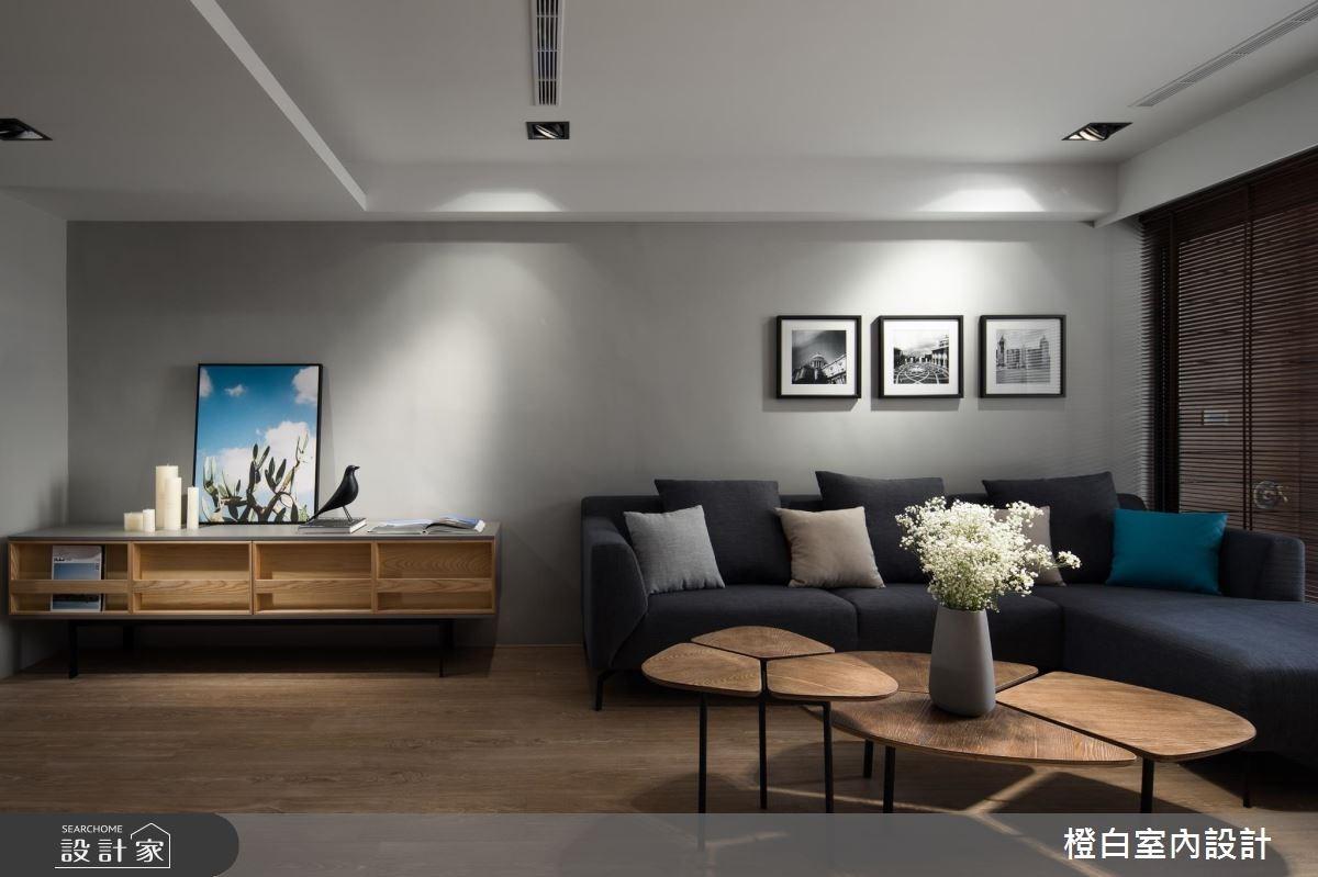 30坪老屋(16~30年)_現代風客廳案例圖片_橙白室內裝修設計工程有限公司_橙白_64之3