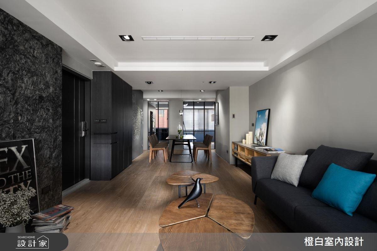 30坪老屋(16~30年)_現代風客廳案例圖片_橙白室內裝修設計工程有限公司_橙白_64之4