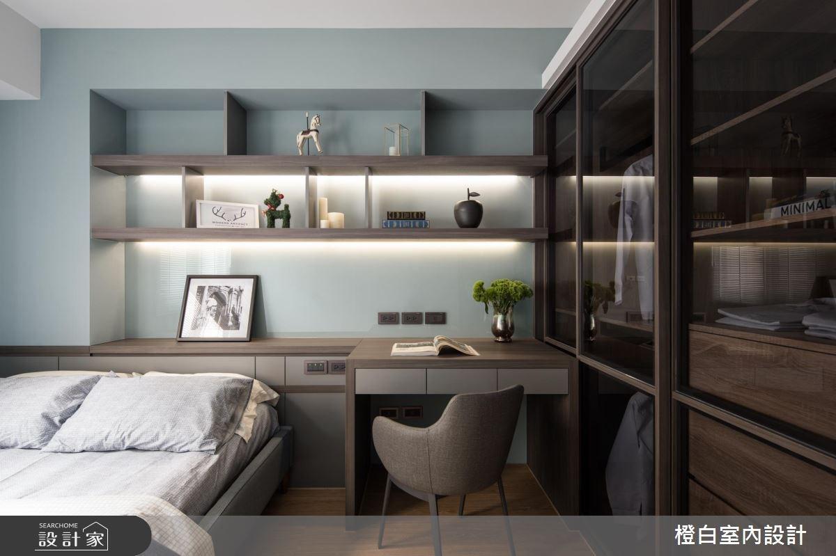 30坪老屋(16~30年)_現代風臥室案例圖片_橙白室內裝修設計工程有限公司_橙白_64之28
