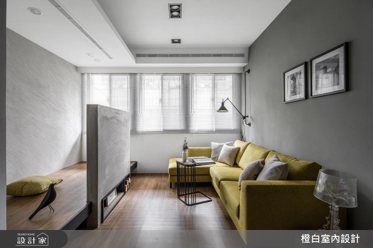 14坪老屋(16~30年)_現代風客廳案例圖片_橙白室內裝修設計工程有限公司_橙白_65之2