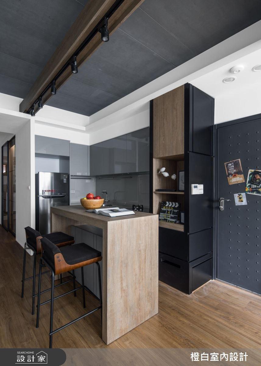 14坪老屋(16~30年)_現代風廚房吧檯案例圖片_橙白室內裝修設計工程有限公司_橙白_65之3
