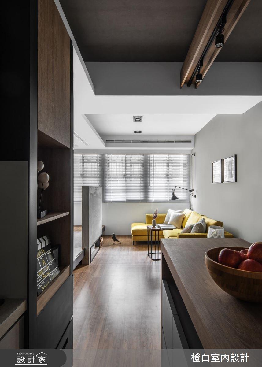 14坪老屋(16~30年)_現代風客廳案例圖片_橙白室內裝修設計工程有限公司_橙白_65之4