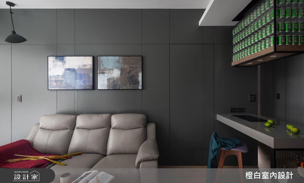 15坪新成屋(5年以下)_現代風客廳案例圖片_橙白室內裝修設計工程有限公司_橙白_67之4
