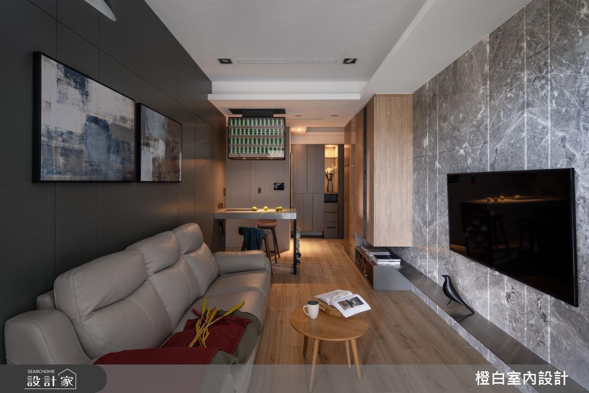 15坪新成屋(5年以下)_現代風客廳案例圖片_橙白室內裝修設計工程有限公司_橙白_67之24