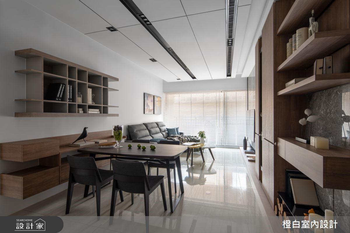 33坪新成屋(5年以下)_現代風餐廳案例圖片_橙白室內裝修設計工程有限公司_橙白_68之4