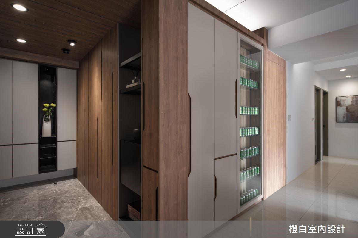 33坪新成屋(5年以下)_現代風玄關案例圖片_橙白室內裝修設計工程有限公司_橙白_68之2
