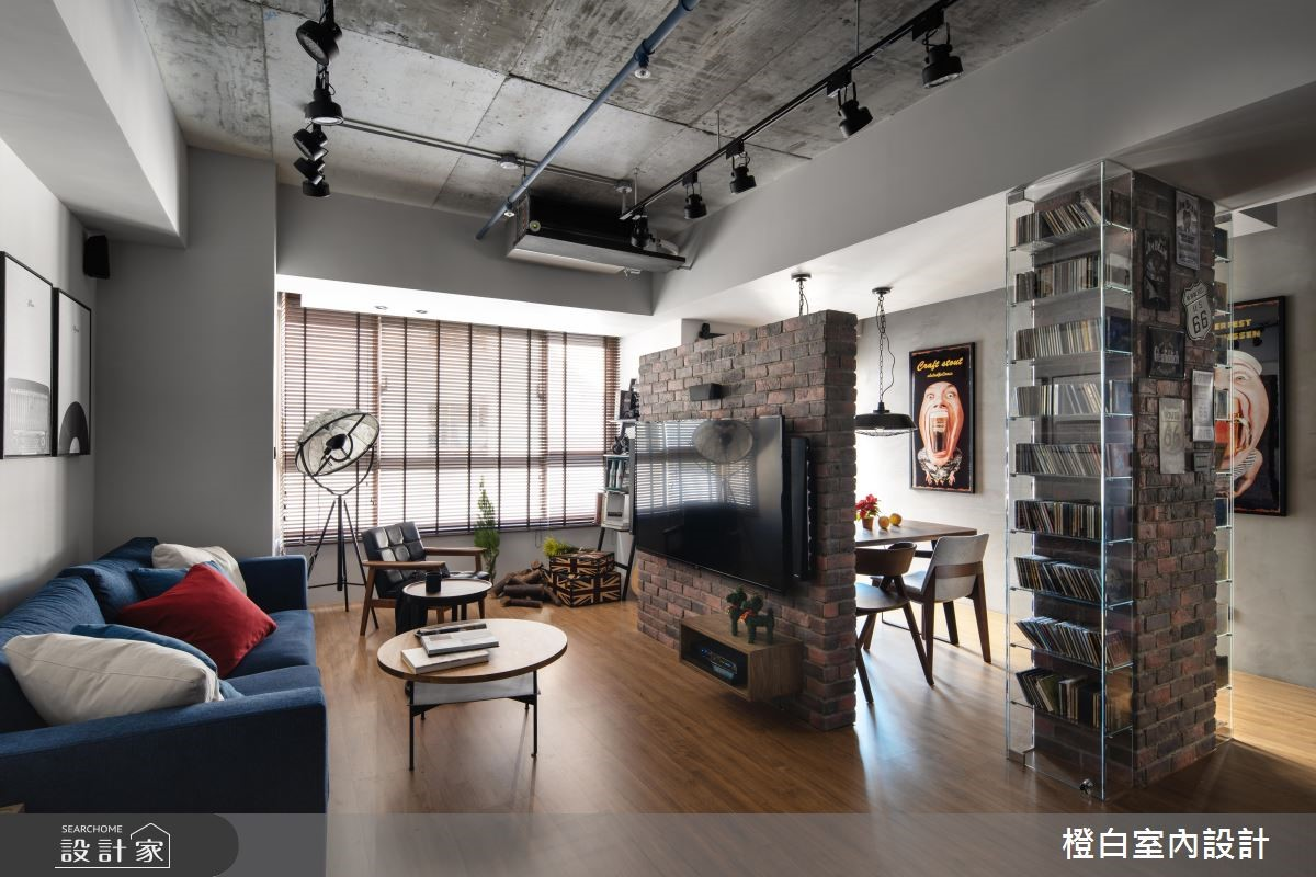 30坪中古屋(5~15年)_混搭風客廳案例圖片_橙白室內裝修設計工程有限公司_橙白_69之3