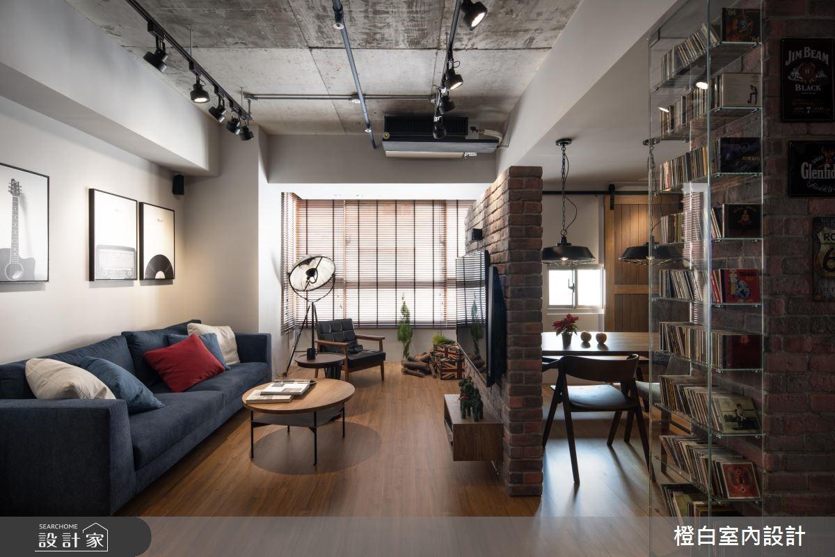 30坪中古屋(5~15年)_混搭風客廳案例圖片_橙白室內裝修設計工程有限公司_橙白_69之4