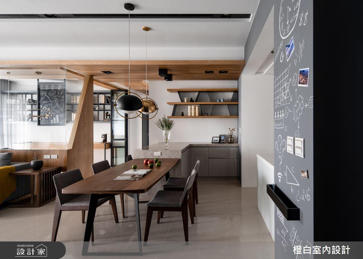 45坪新成屋(5年以下)_混搭風餐廳案例圖片_橙白室內裝修設計工程有限公司_橙白_70之4