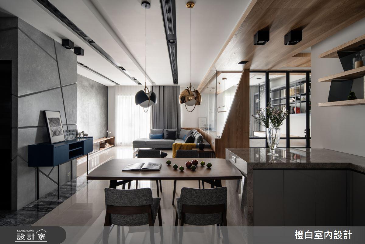 45坪新成屋(5年以下)_混搭風餐廳案例圖片_橙白室內裝修設計工程有限公司_橙白_70之6