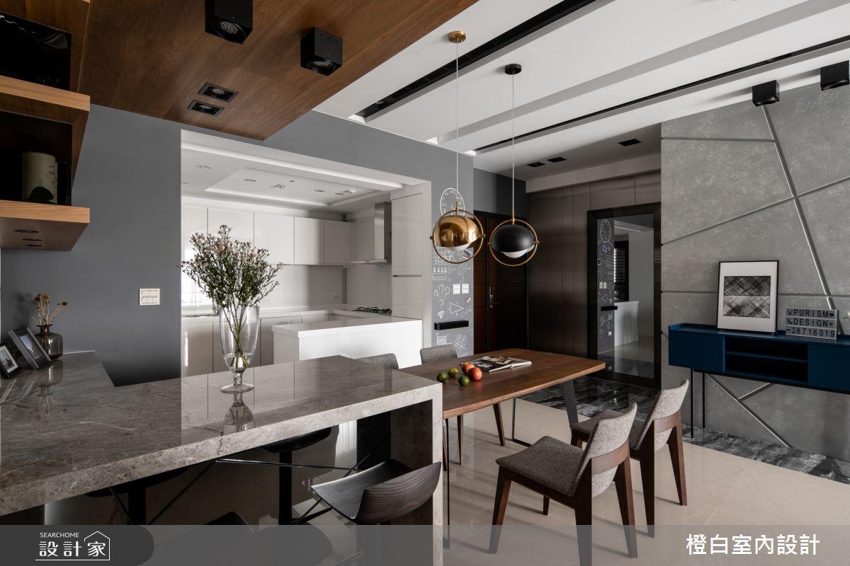 45坪新成屋(5年以下)_混搭風餐廳廚房案例圖片_橙白室內裝修設計工程有限公司_橙白_70之8