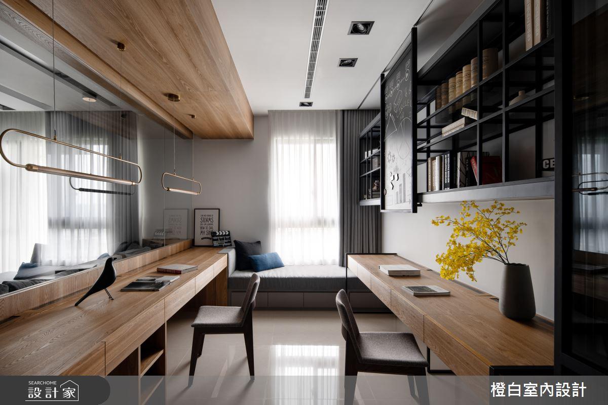 45坪新成屋(5年以下)_混搭風書房臥榻案例圖片_橙白室內裝修設計工程有限公司_橙白_70之15