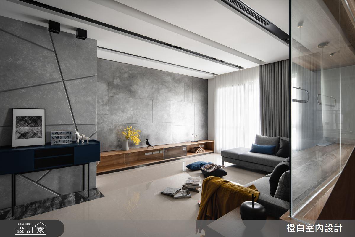 45坪新成屋(5年以下)_混搭風客廳案例圖片_橙白室內裝修設計工程有限公司_橙白_70之13