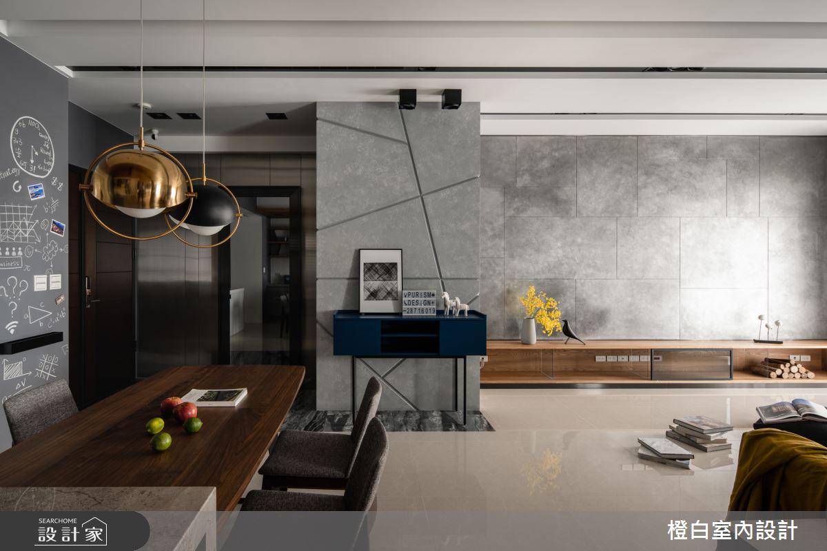 45坪新成屋(5年以下)_混搭風客廳案例圖片_橙白室內裝修設計工程有限公司_橙白_70之12