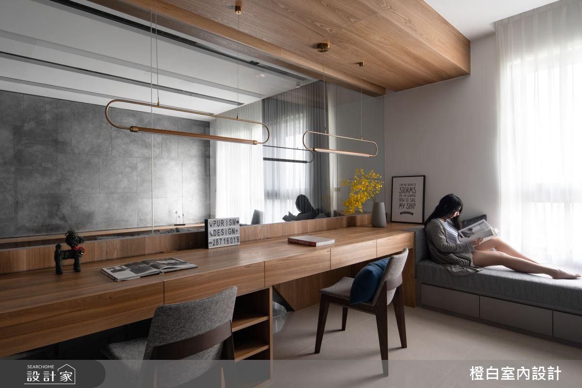 45坪新成屋(5年以下)_混搭風書房臥榻案例圖片_橙白室內裝修設計工程有限公司_橙白_70之16